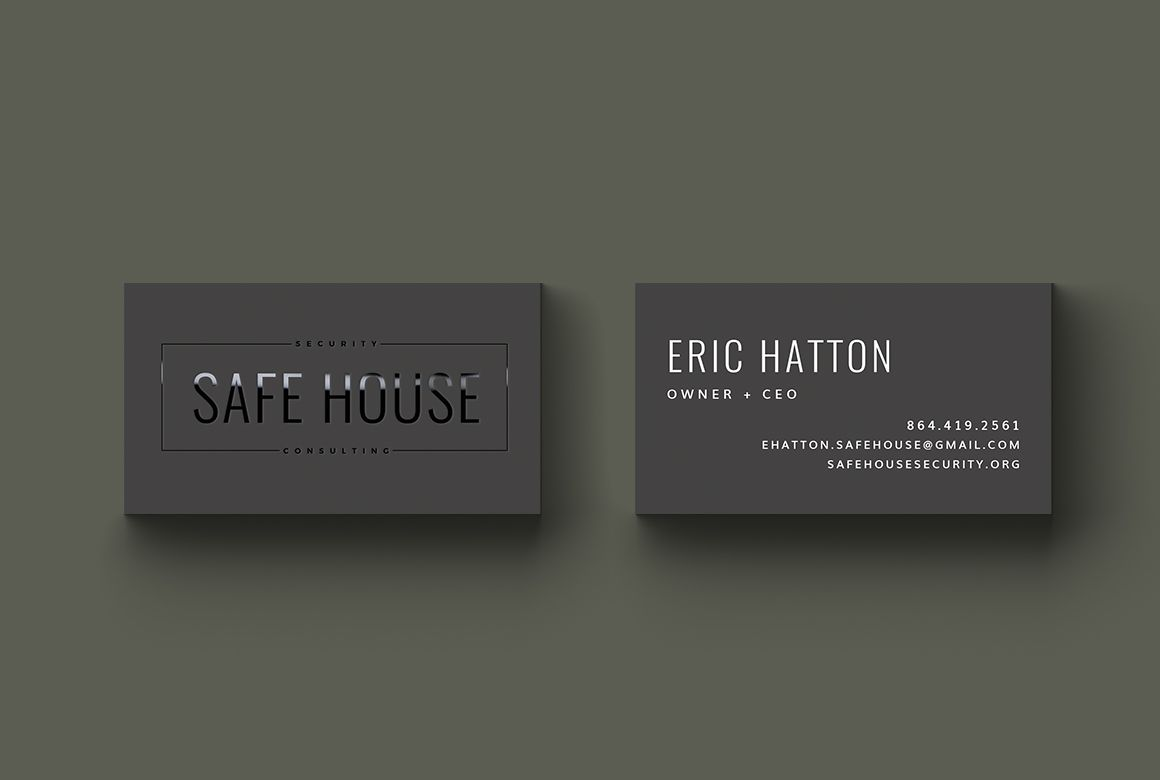 Safe House Security and Consulting Business Card design by Whiskey ...