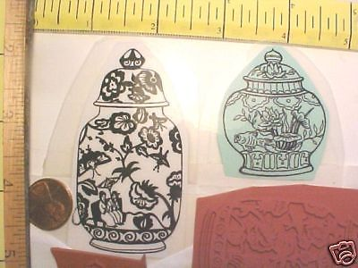 2 Oriental Asian Vase Vases Ginger Jar Orient Unmounted Rubber Stamps Free SHIP | eBay