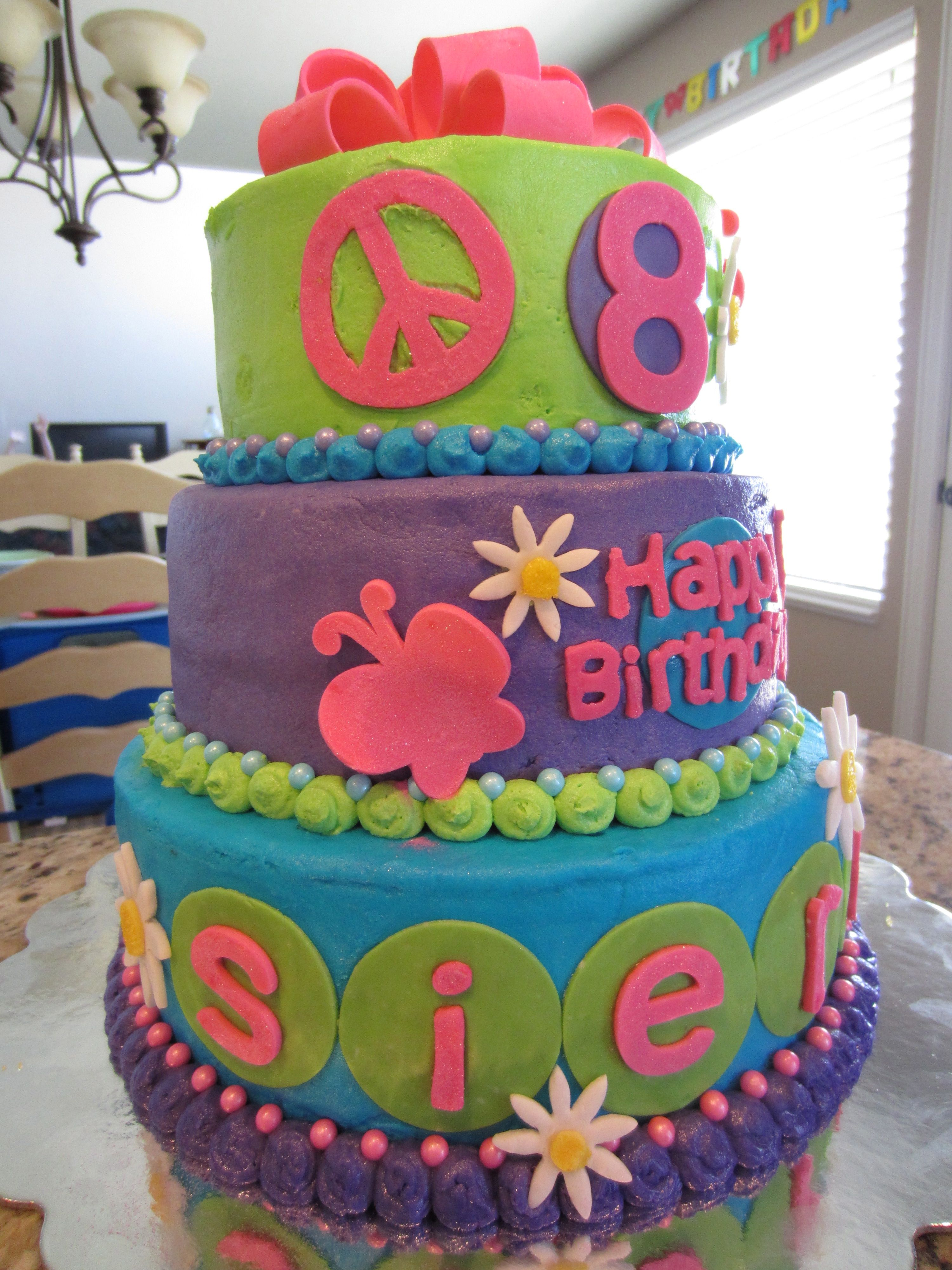 8 Year Old Girl Birthday Cake