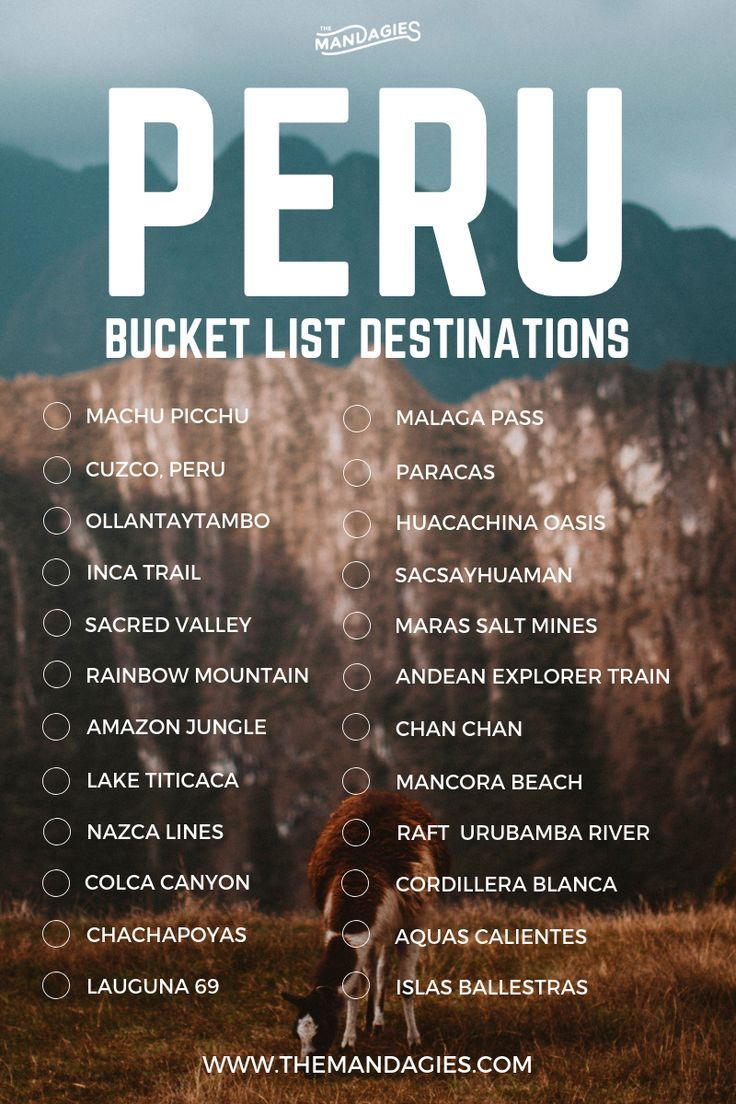 7 Adventurous Things To Do When You Visit Peru - The Mandagies