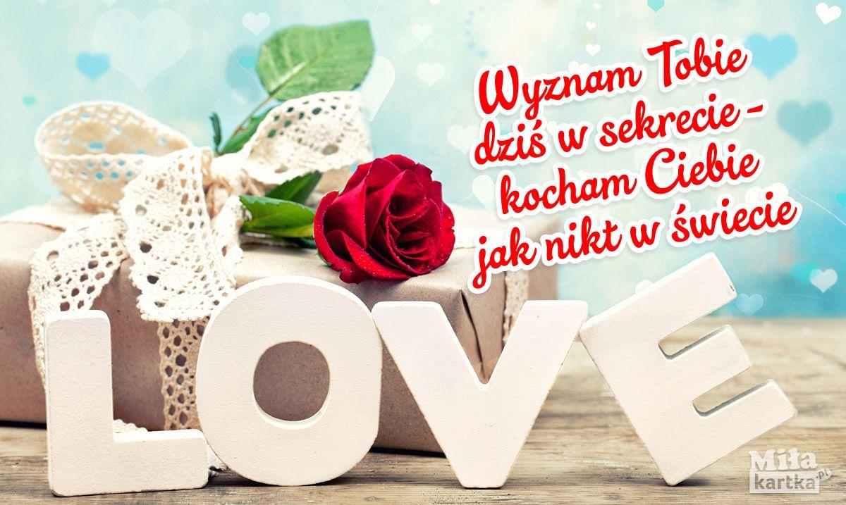 Wyznam Tobie Dzis Walentynki Polska Milosc Kochanie Roze Poland Kartki Valentines Love Kocham Place Card Holders Valentine S Day Quotes Place Cards
