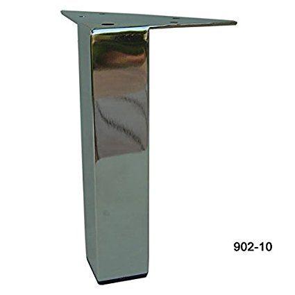 Alpha Furnishings Straight 10 Inch H Chrome Metal Furniture Leg 902 10 Metal Furniture Legs Metal Furniture Furnishings