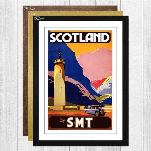 Gerahmte Retro-Werbung Vintage Travel Scotland Big Box Art Rahmenfarbe: Schwarz #travelscotland