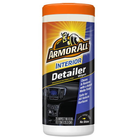 Armor All Interior Detailer Wipes, 25 count, Car Cleaning - Walmart.com