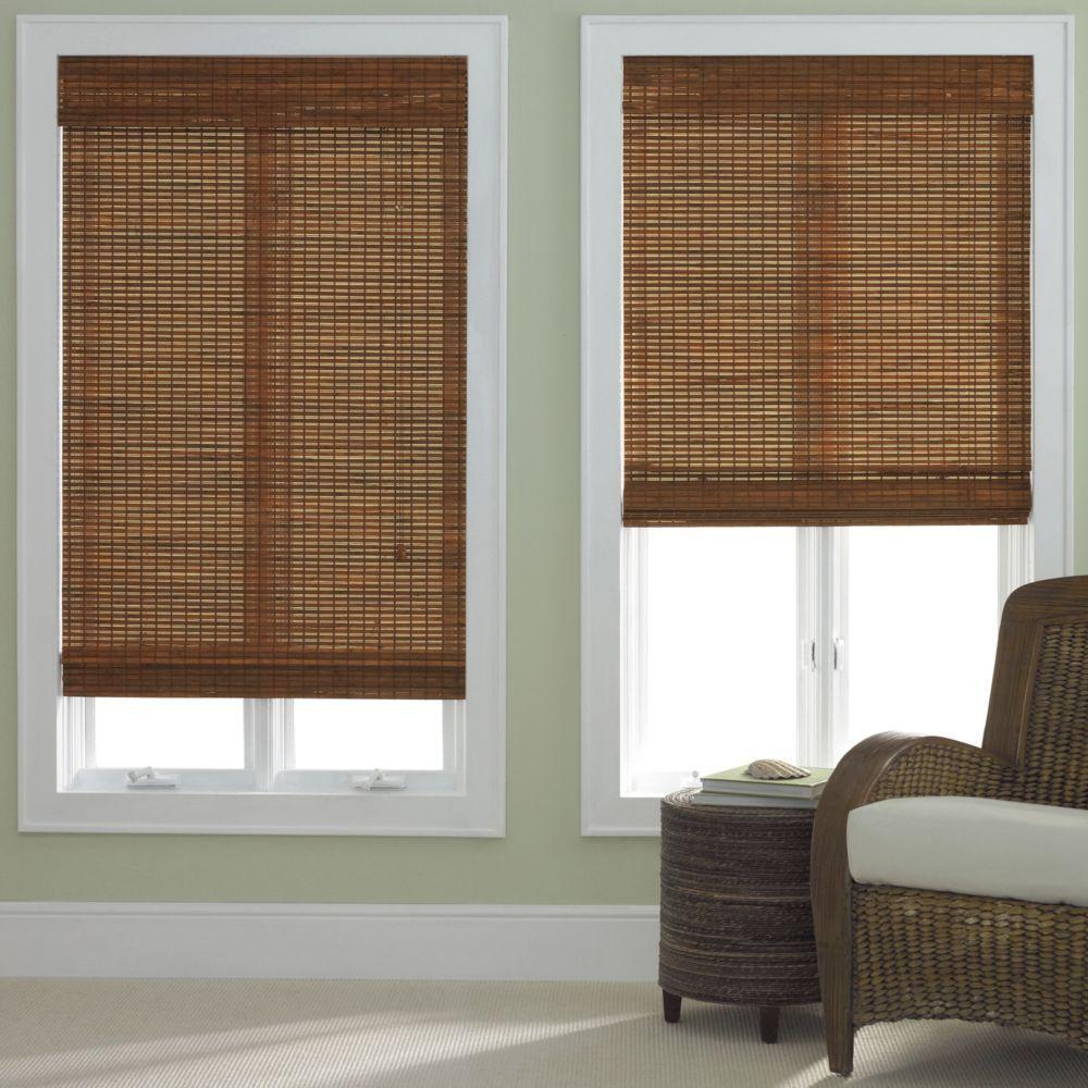 Bamboo Roman Shade Five Colors Woven Wood Roman Shades