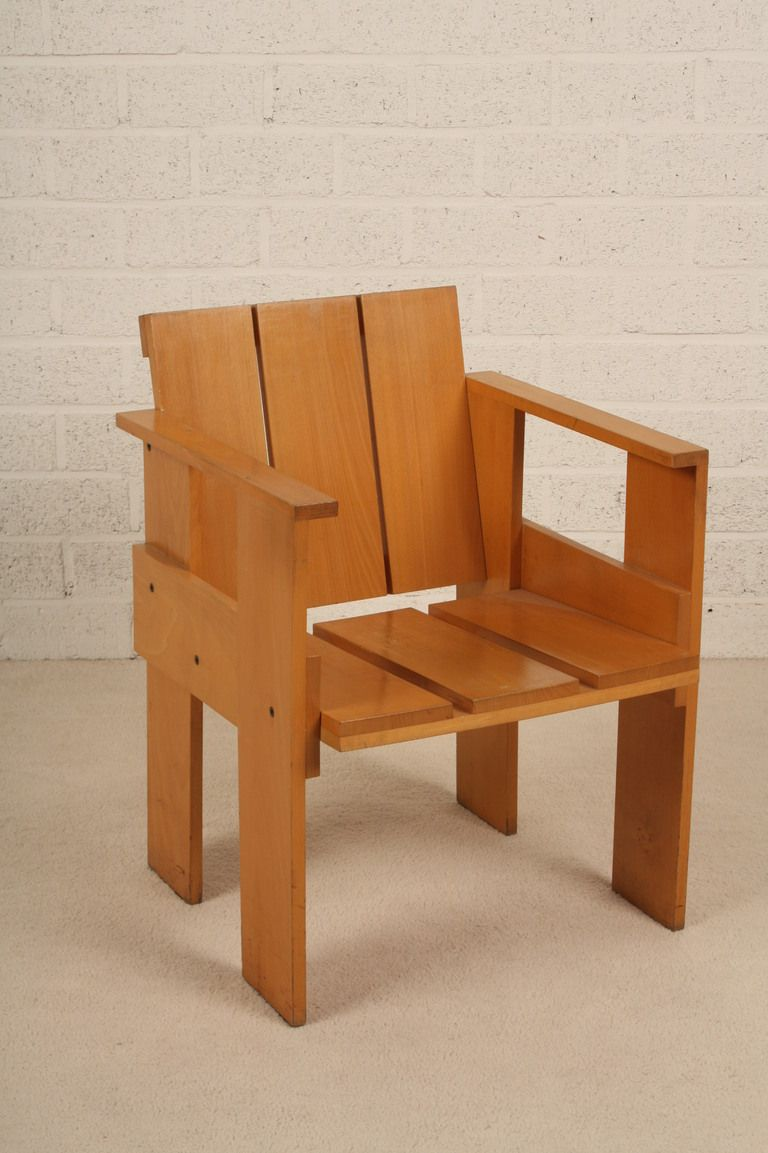 Gerrit rietveld chair for sale - Dutch Design Gerrit Rietveld Crate Chair