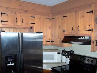 Lighter Knotty Pine Cabinets Redo