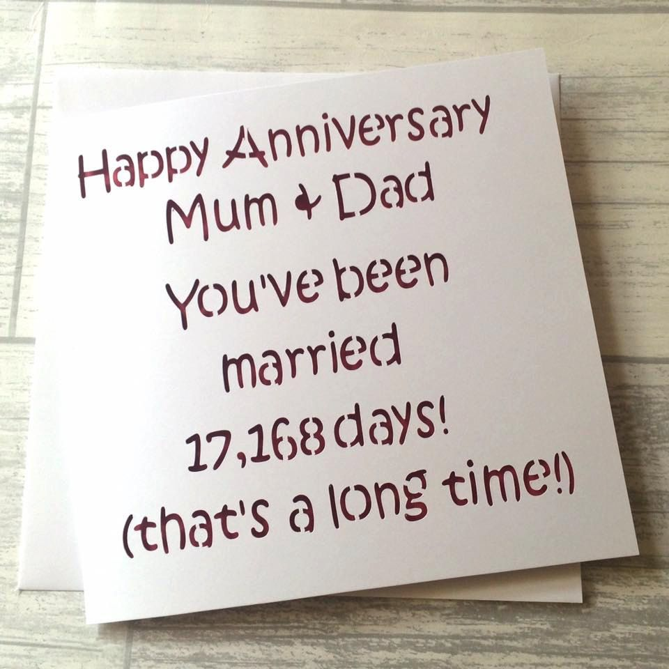 25th Wedding Anniversary Gifts For Mum And Dad: Anniversary Card, Mum And Dad Anniversary, Mum Dad