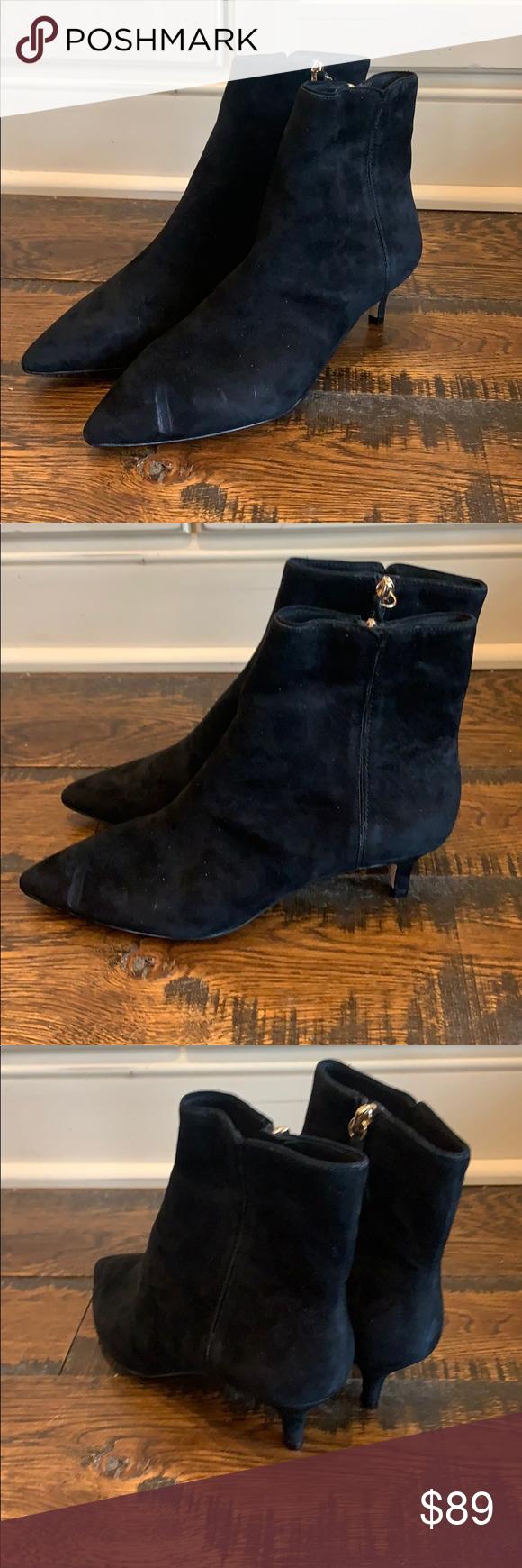 J Crew Fiona Kitten Heel Ankle Boots Suede Ab101 In 2020 Kitten Heel Ankle Boots Boots Heeled Ankle Boots