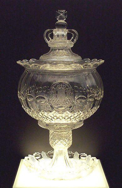 Piece De Verre Cristal Baccarat Du Service Royal D Espagne Verre Antique