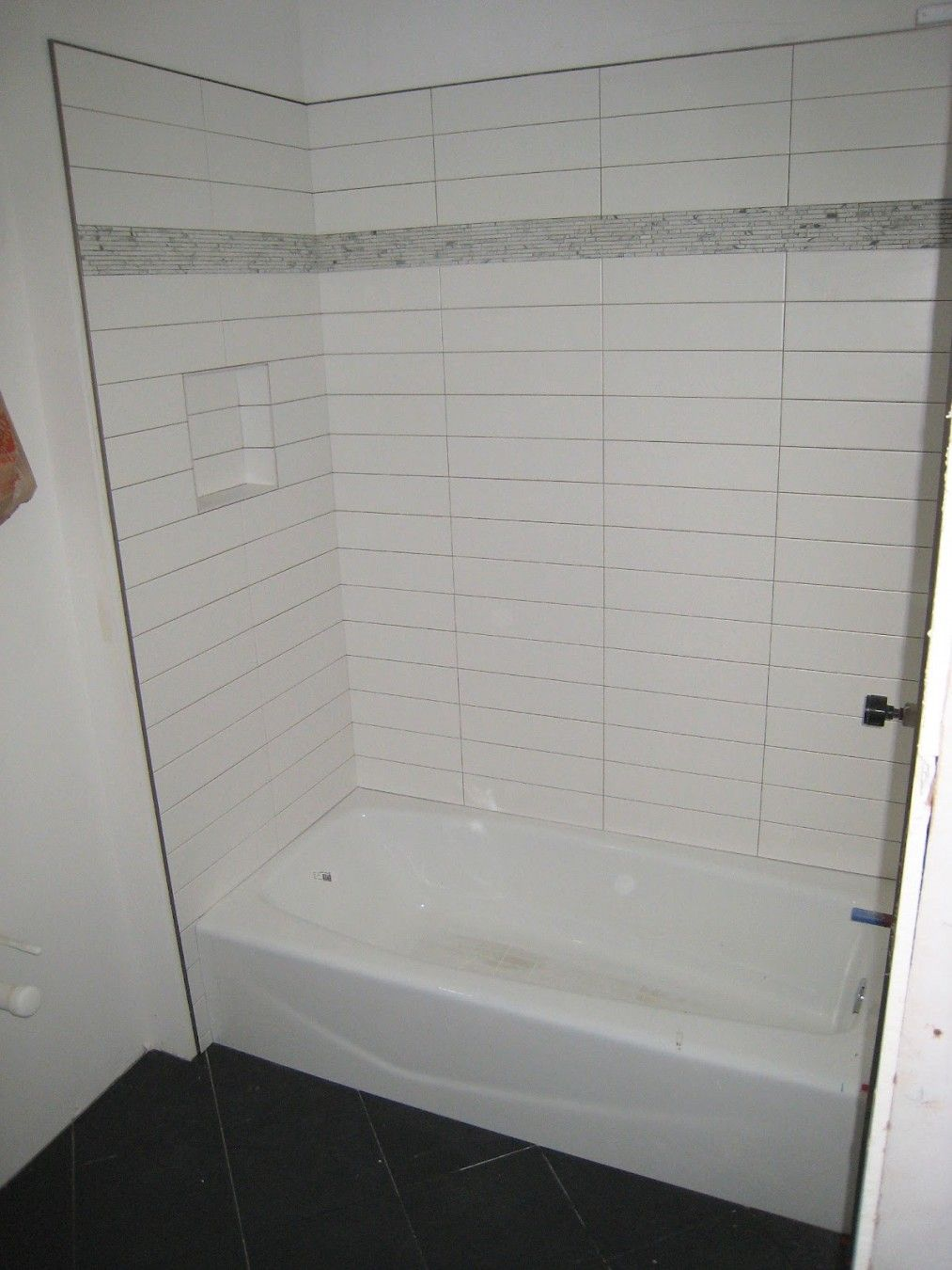 Stacked 4x12 Quot Tile Shower Tile White Subway Tile Shower