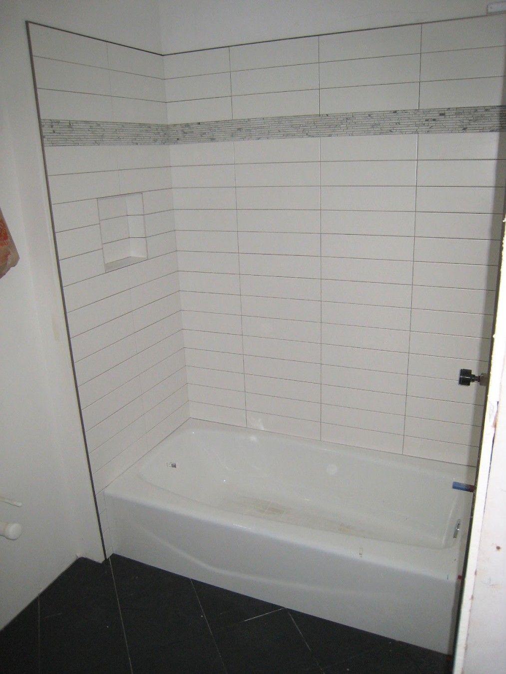 Stacked 4x12 Tile Patterned Bathroom Tiles Shower Tile Subway