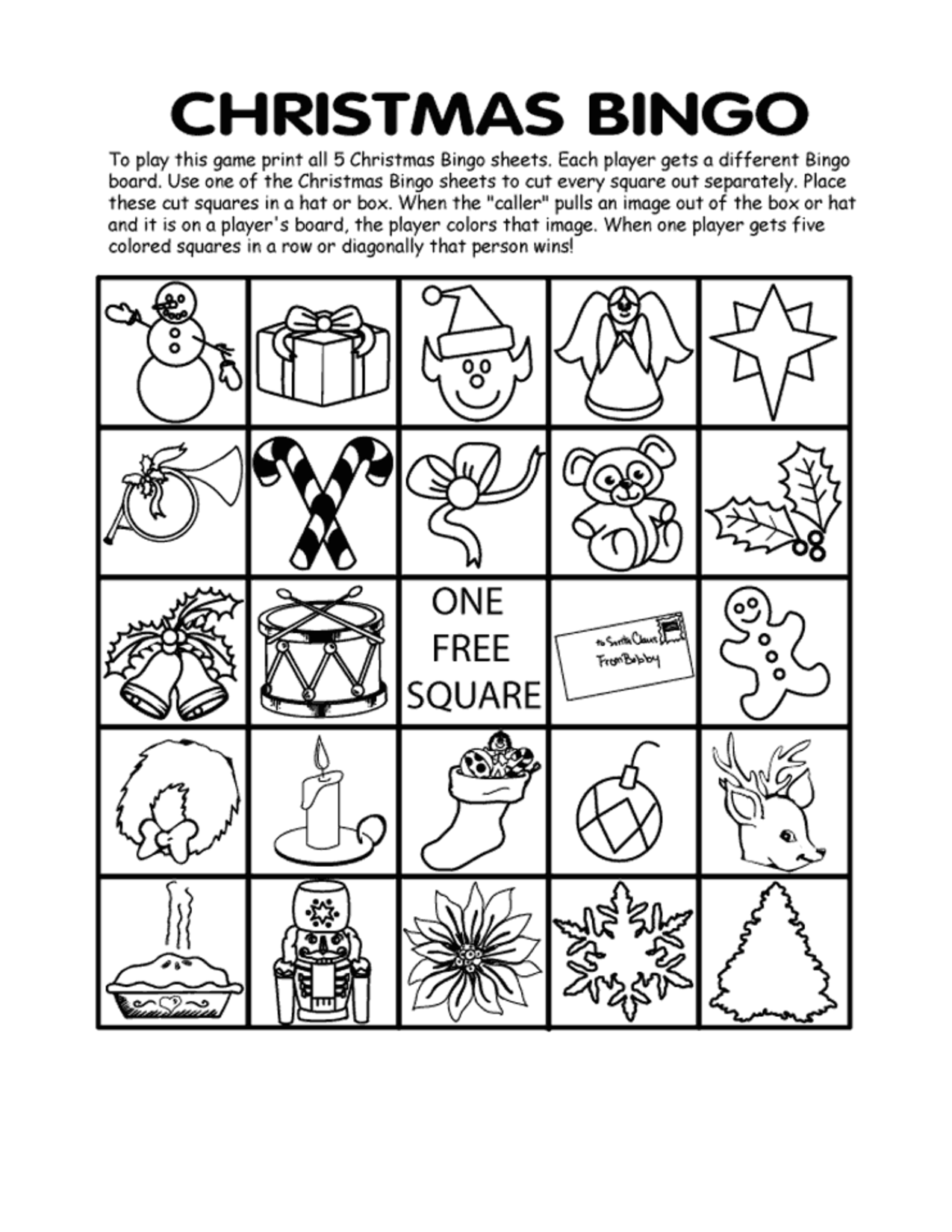 Free Printable Christmas Bingo Cards - Best Template Collection ...