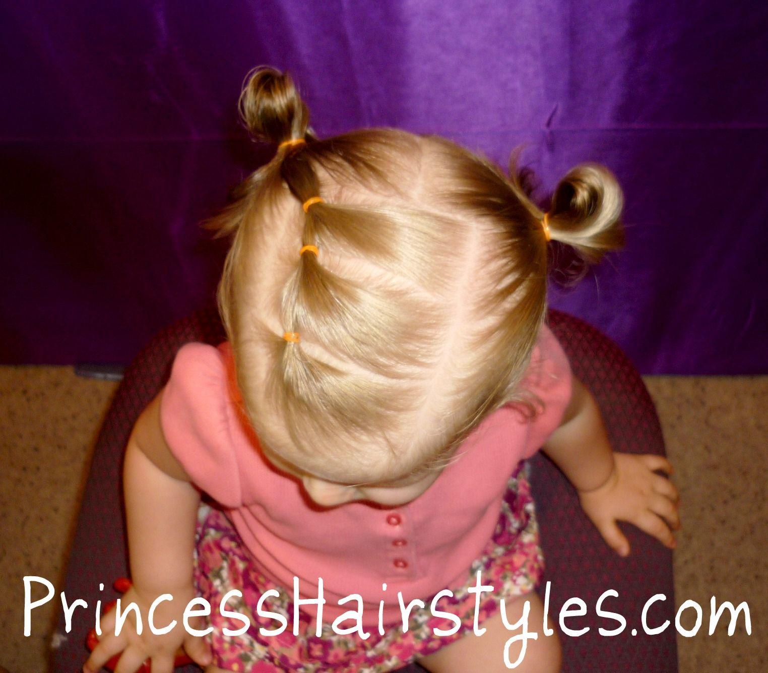 Toddler hairstyles elastic braid pigtails kidus room pinterest