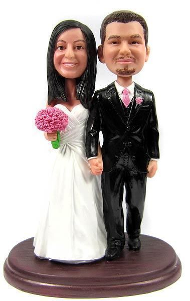 Custom Strapless Wrap Dress Wedding Cake Topper