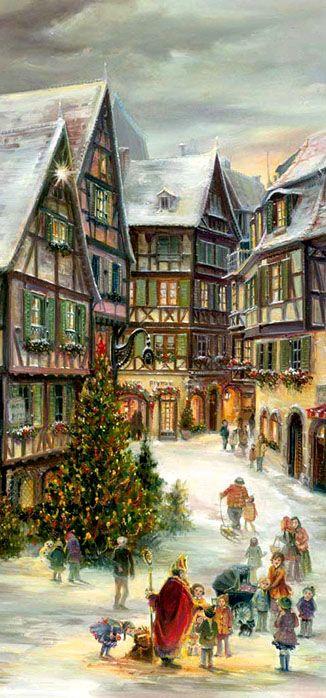 Calendrier De Lavent Allemand.Calendrier De L Avent Deco Alsace Noel Allemand Noel Et