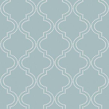 Nuwallpaper Slate Blue Quatrefoil Peel Stick Wallpaper Walmart Com Peel And Stick Wallpaper Nuwallpaper Quatrefoil