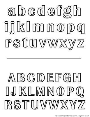 Aneka Gambar Mewarnai Gambar Mewarnai Alfabet Untuk Anak Paud