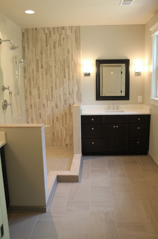 Craftsman style home with modern finishes bathroom - Mission style bathroom accessories ...