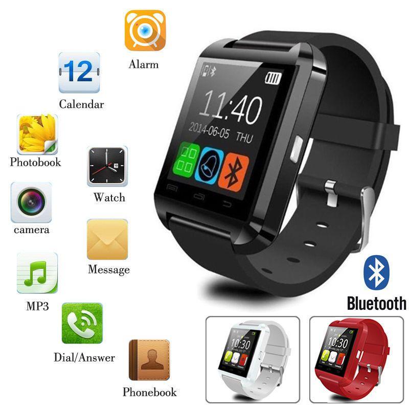 U8 Wrist Black Outdoor Bluetooth Smart Watch Phone Mate