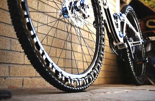 Britek Airless Bicycle Tires Being Tested Mountain Bike Tires
