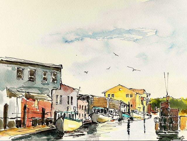 Custom House Wharf Portland Maine Sketches Urban Sketchers Art