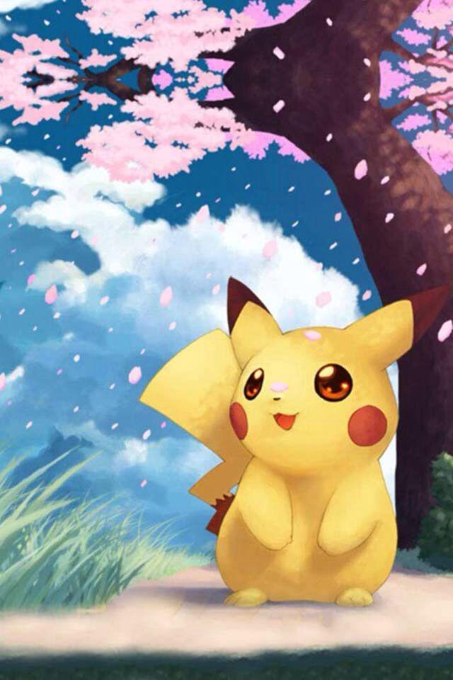 Pikachu sakura tree pokemon wallpapers - Kawaii wallpaper hd ...