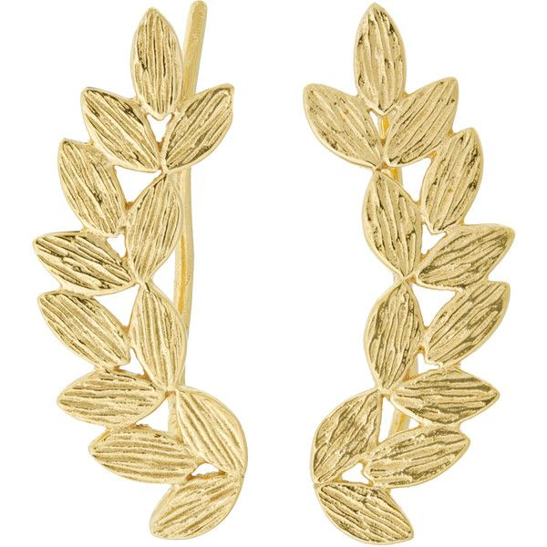 EDDERA Sienna Ear Climbers found on Polyvore featuring jewelry, earrings, gold, ear climbers jewelry, antique jewellery, vintage jewellery, eddera jewelry and vintage earrings Top Jewelry...