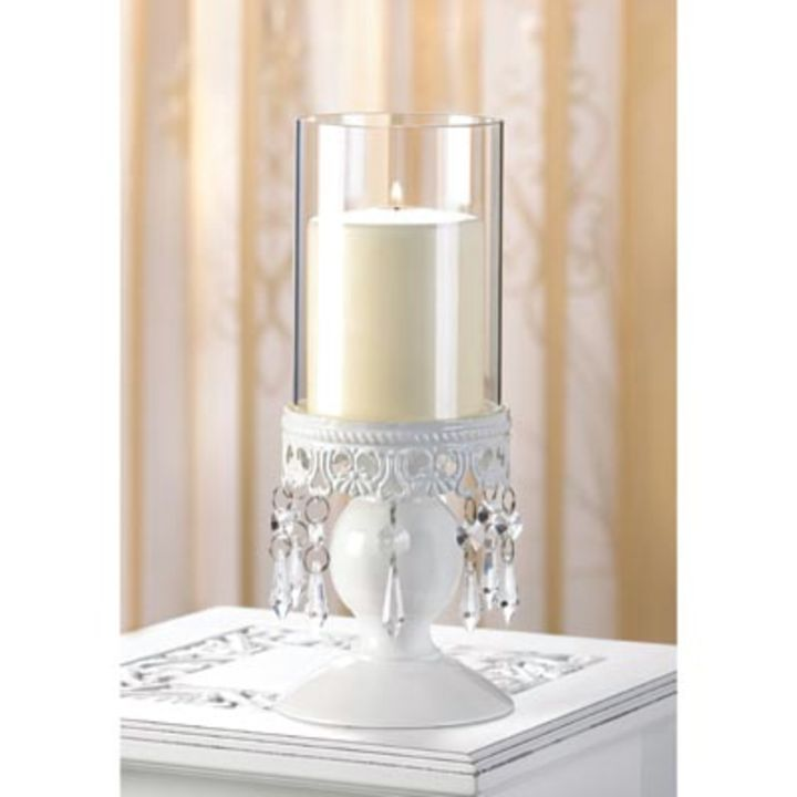 Lot Of 12 Crystal Candle Holders Hurricane Wholesale Centerpieces Decor