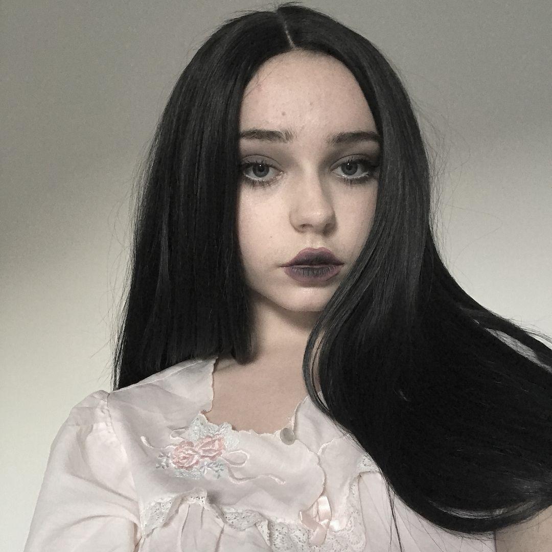 Long Natural Black Straight Synthetic Lace Front Wig In 2020 Straight Eyebrows Synthetic Lace Front Wigs Long Black Hair