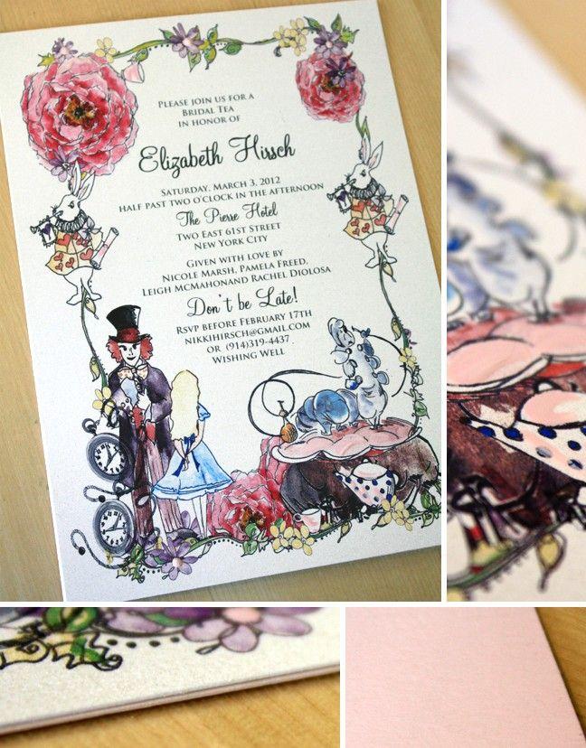 Pin By Kristy Mccrea On Amber Sweet 16 Ideas Alice In Wonderland Invitations Party