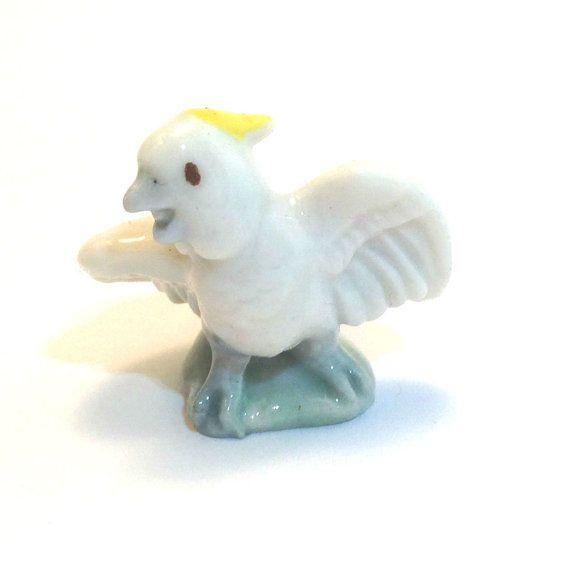Wade Whimsie: Cockatoo Figurine First by JanetsVintageStore