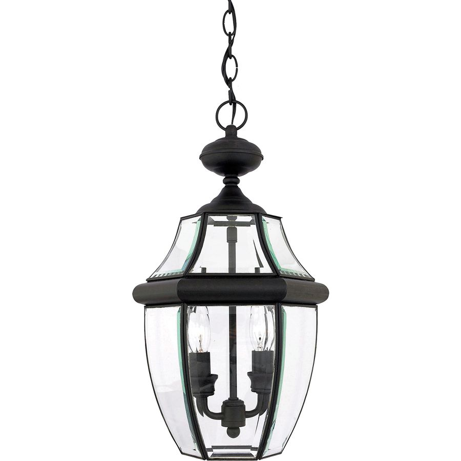 Portfolio Brayden 18.5-in Mystic Black Outdoor Pendant Light ...