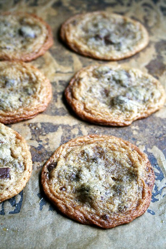 Thin & Chewy Chocolate Chip Cookies | Alexandra's Kitchen