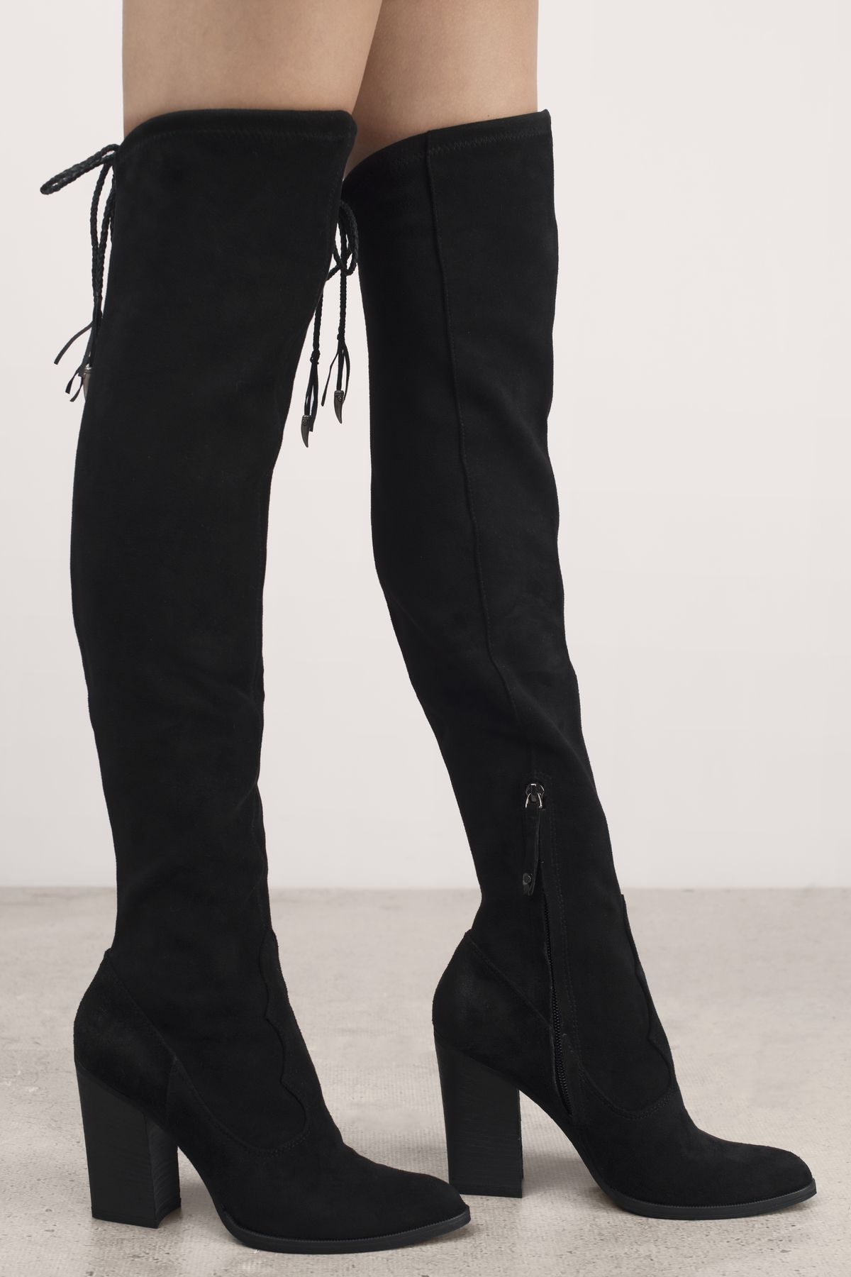 Chance Knee High Heeled Boots At Tobi Com Shoptobi High Heel Boots Knee Boots Thigh High Suede Boots