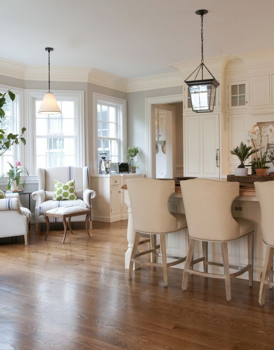Lovely Cozy Kitchen Nook With Two Chairs · Seating AreasLounge ...