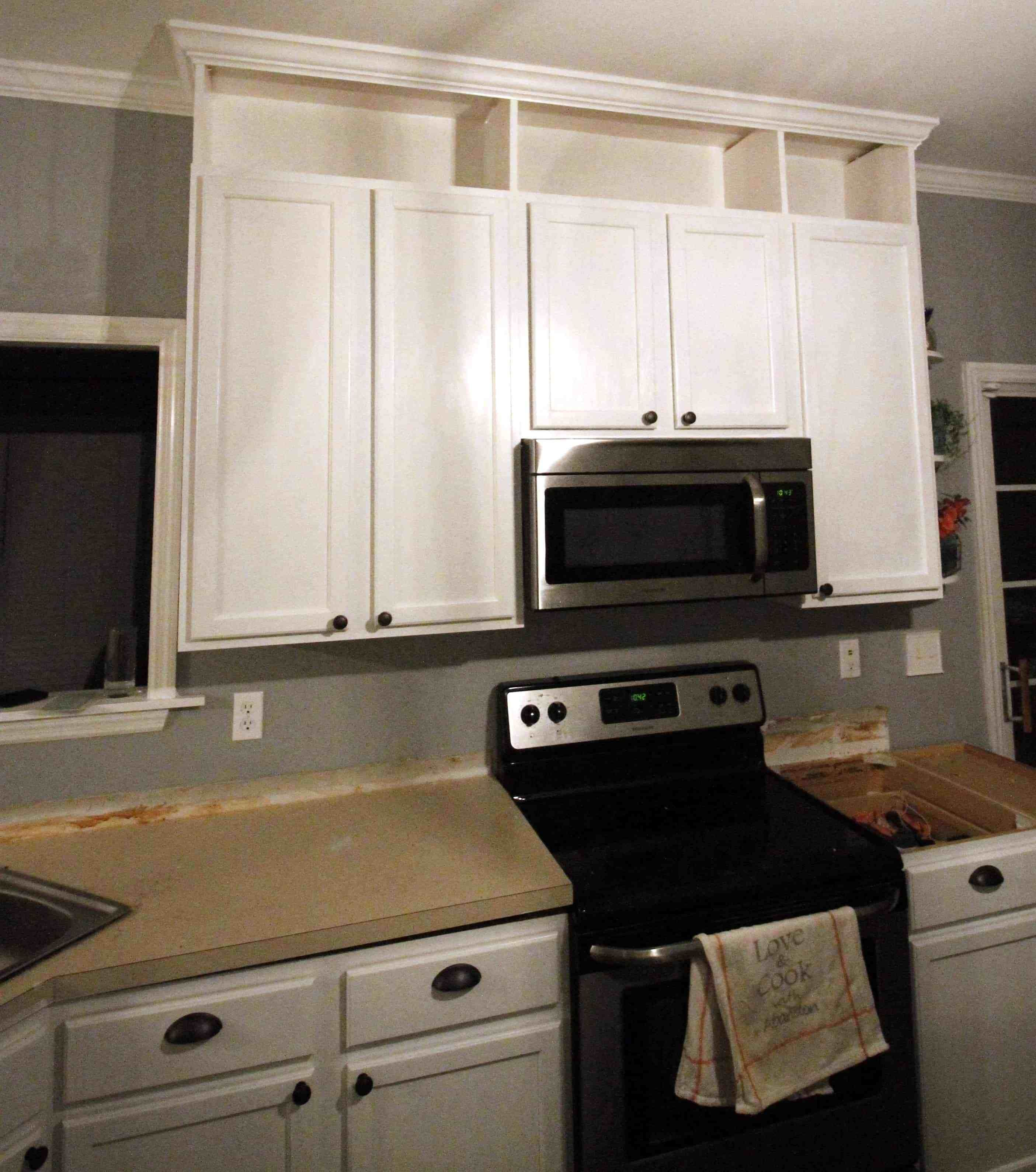 Extending Kitchen Cabinets To The Ceiling How to extend kitchen cabinets to the ceiling | Diy kitchen