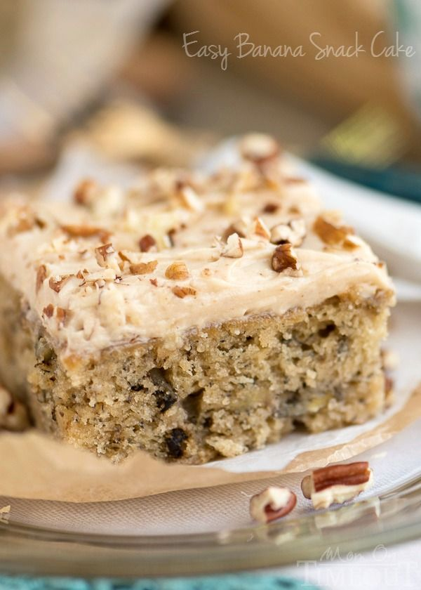 Easy Banana Snack Cake With Brown Butter Maple Cream