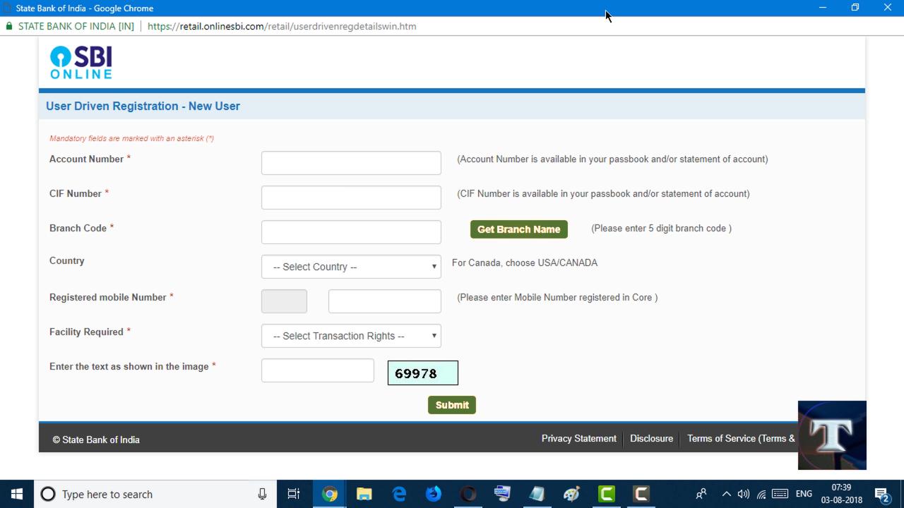 How to Register Net Banking in sbi online SBI net