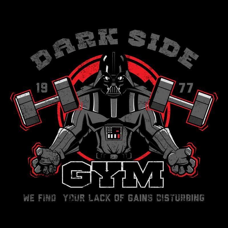 a8e7f3563 DARK SIDE GYM T-Shirt | Star Wars | Star wars art, Star wars, Gym logo