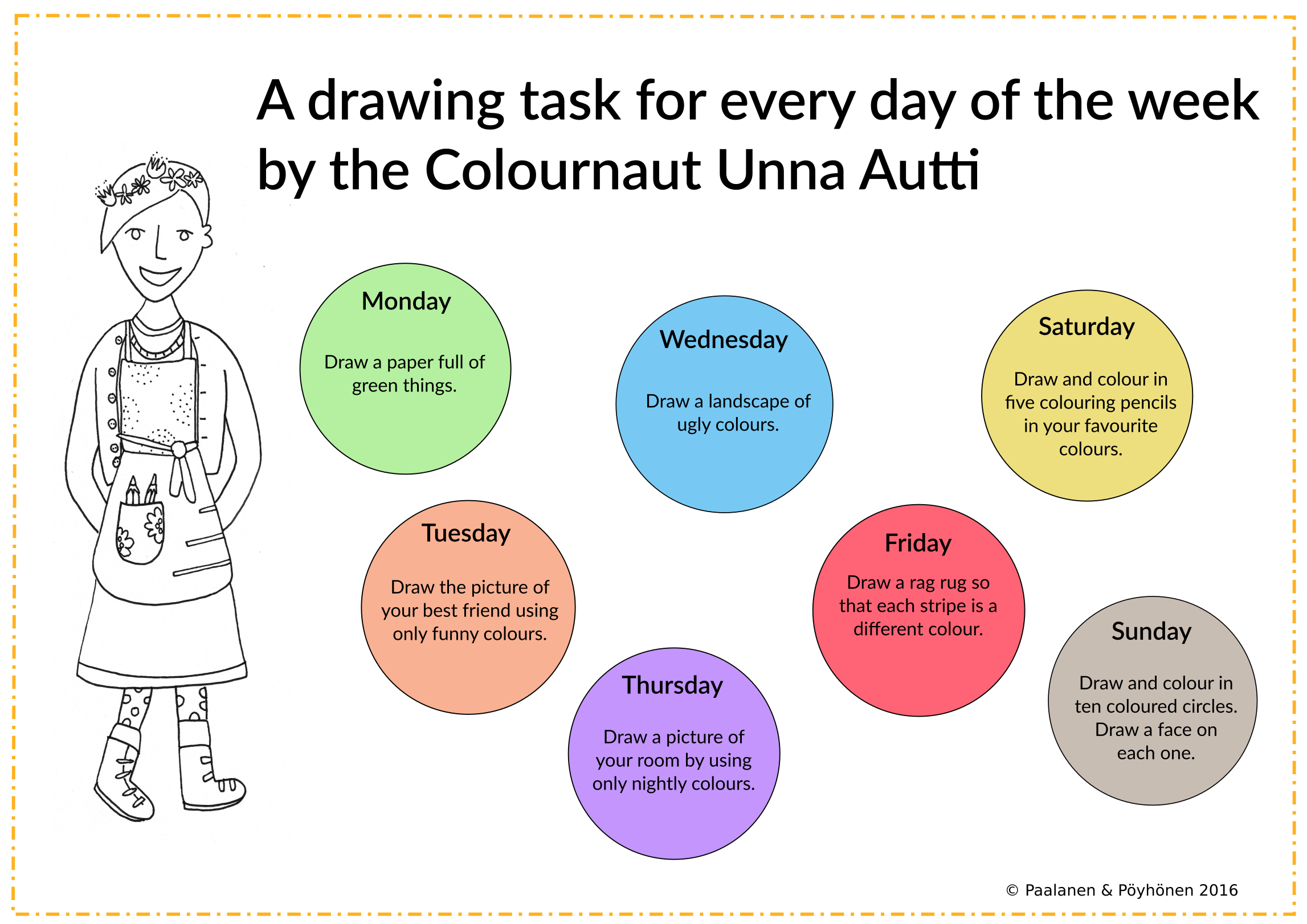 Drawing Task Creative Activity Arts Worksheet