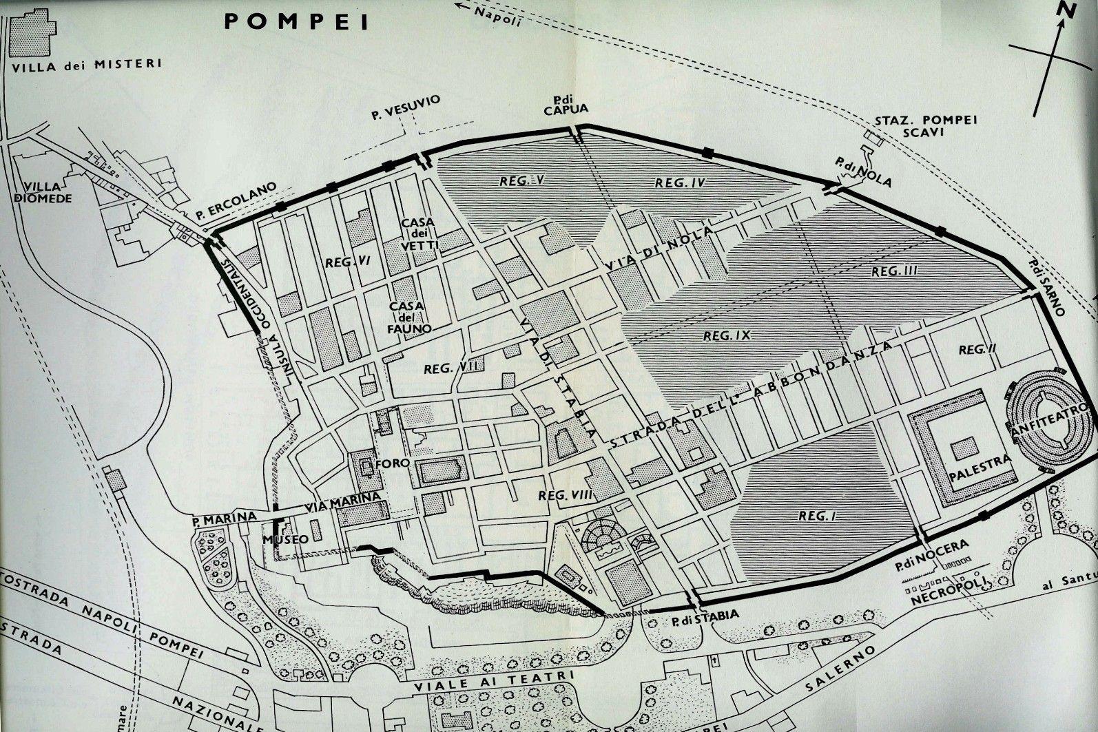 plano de la ciudad de pompeya la ville g om trique On plano de pompeya