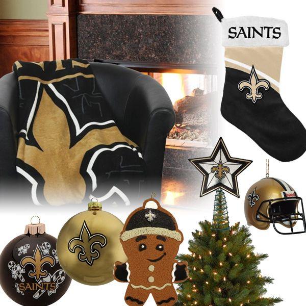 New Orleans Saints Christmas Ornaments Stocking Tree