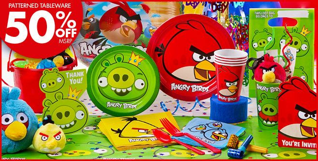 Plates Napkins etc Angry Birds Movie Party Tableware Pack for 16 People