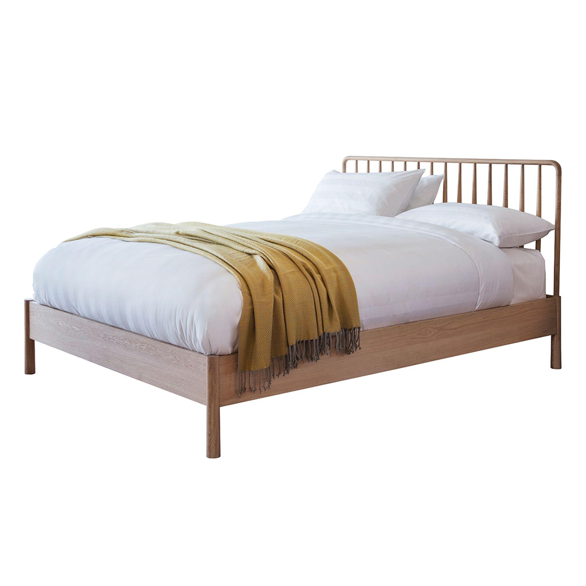 Julio Solid Oak Spindle Bed Frame Spindle Bed Bed Frame Oak Beds