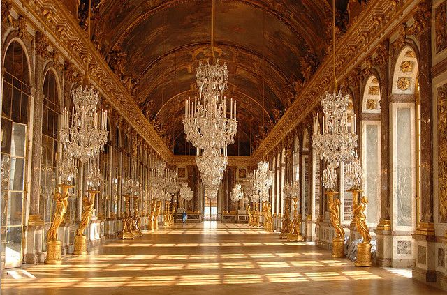 Hall of Mirrors inside Versailles, Paris