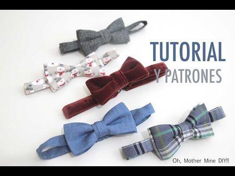 d292ce53e DIY Tutorial y patrones de pajaritas para niños o bebés  como hacer paso a  paso esta pajarita. Los patrones los tenéis disponibles y gratis en el blog.