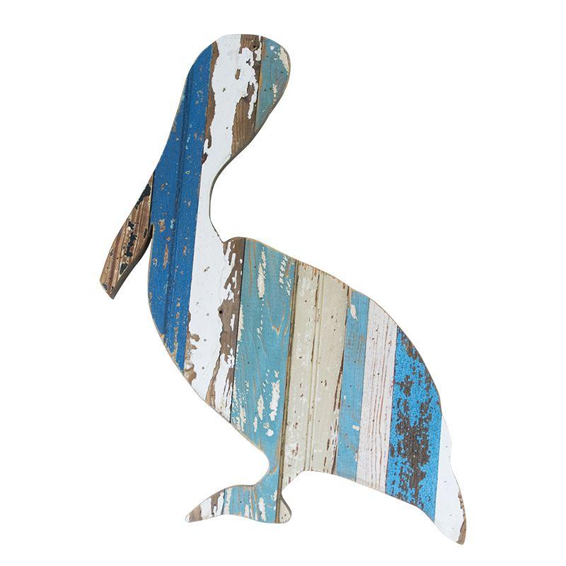 reclaimed wood Hanging Wooden Whale small Seaside wall art by Shoeless Joe