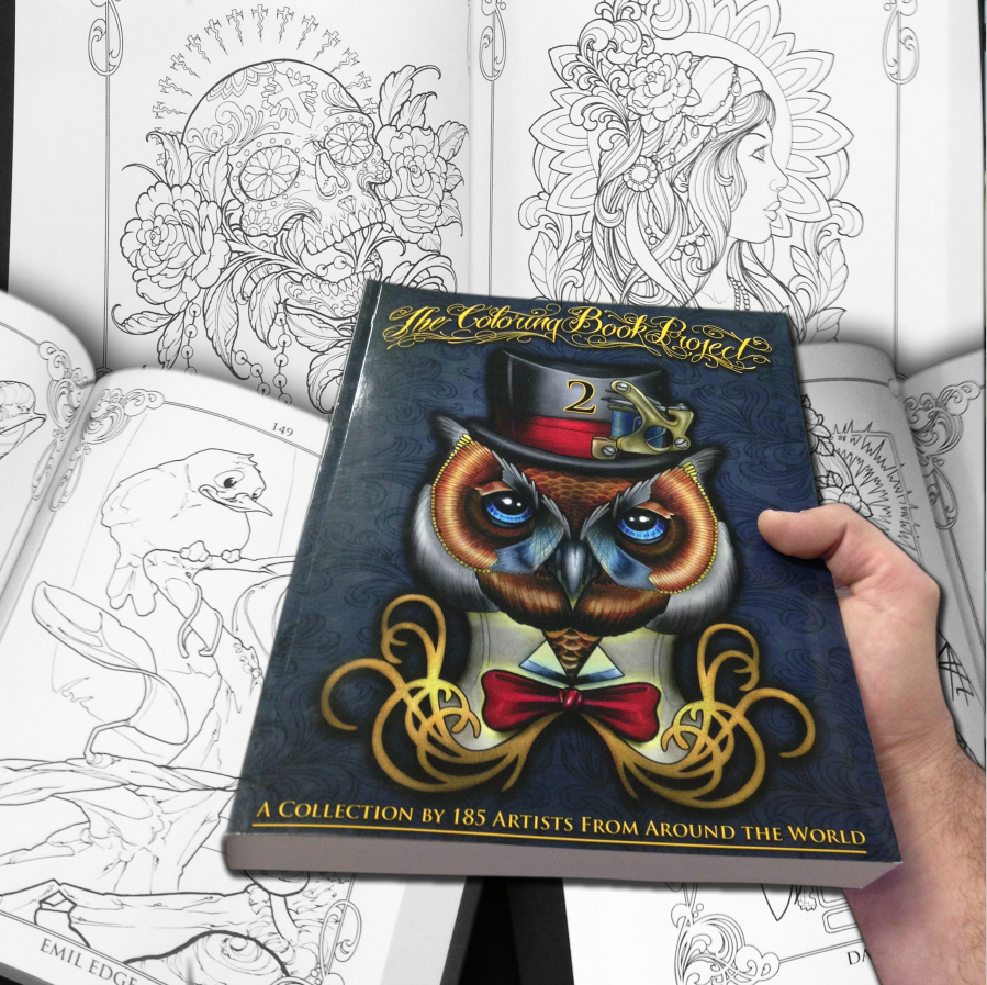 The Coloring Book Project 2nd Edition Coloring Books Tattoo Coloring Book Book Projects