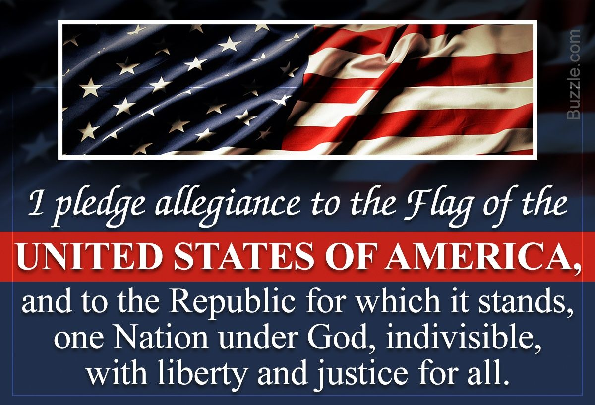 Friday January 4th Open Thread Pledge Of Allegiance Word I What Doe Mean To Me Republic In Justice The